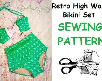 Retro High Waist Bikini - SEWING PATTERN for Intermediate Designers!