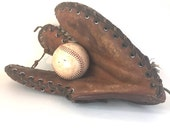 Baseball Mitt, Leather Catcher's Mitt, The Trapper Three Finger Mitt