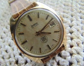 Mens Zodiac, 17 Jewel wristwatch, Swiss, Automatic, Date, 36 MM UPS Logo, Running