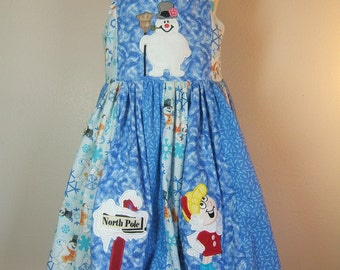 Boutique Frosty & Friends Christmas Twirl Dress