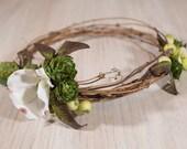 Dogwood Flower Natural HOPS Floral Bride's Crown