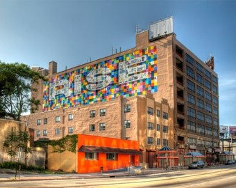 Rise Mural, North Philadelphia, Urban Landscape Photograph, Color, Beacon Project, Wall Art Print, Home Decor, City, Mural Arts Program