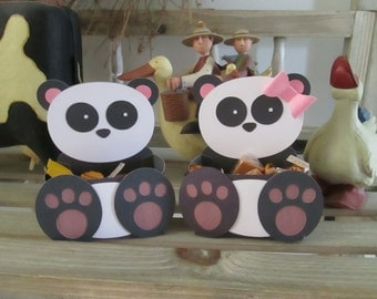 Panda Bear Belly Boxes  Set of 12