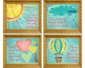 SALE 20% off - You are my Sunshine Wall Art, Nursery Art, Wall Art Children, Kids Room Nursery Décor, Baby Girl Nursery, Nursery Room Art