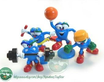 Olympics Mascot Izzy Toys Set of Four Olympians JD