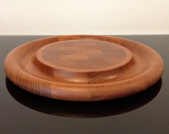 Dansk Designs Denmark IHQ Teak Round Serving Tray / Cutting Board