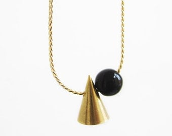 Tiny cone necklace