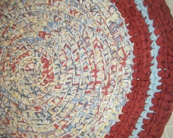 Handcrocheted Cotton Fabric Area Rug - for Etsy