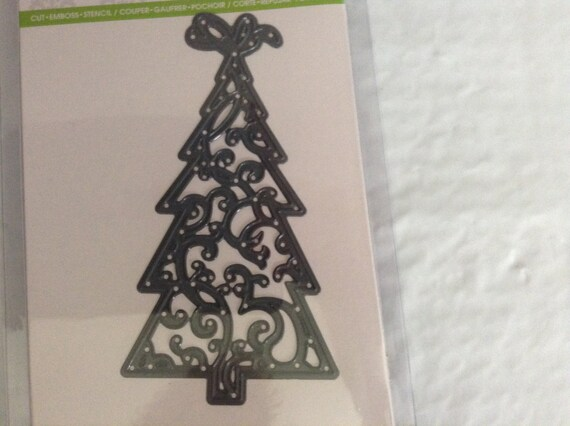 CHRISTMAS TREE Die Cut With Embossing Stencil By Darice