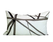 Kelly Wearstler Channels lumbar pillow cover in Taupe/Ivory