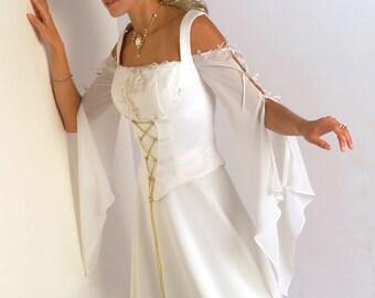 Detachable Sleeves (Renaissance, Medieveal, Fantasy Style) For Bridal Dress Model Ophelia