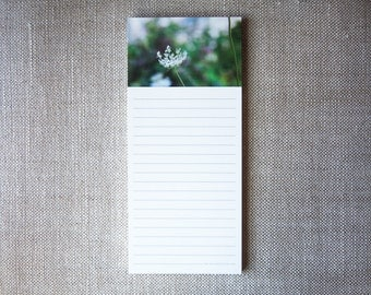 Fine Art Notepad with Original Photography – Queen Anne's Lace