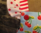 Sweet Cherry Flutter Top and Polka Dot Ruffled Bloomers