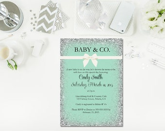 Printable Baby and Co baby shower/ Baby Shower Invitation/ Baby and Co shower invite / Printable baby shower invite/ Printable invitation