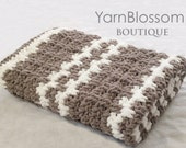 Baby Blanket CROCHET PATTERN 4 Hour Baby Blanket: PDF Instant Download