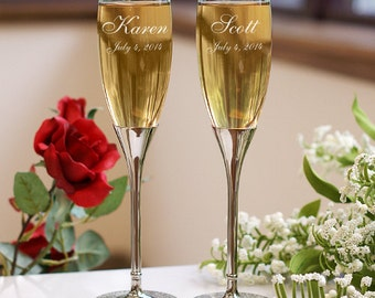 Personalized Champagne Toasting Flutes -gfyL273799