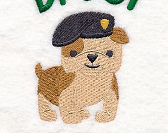 Drool Sergeant Embroidered Flour Sack Hand/Dish Towel