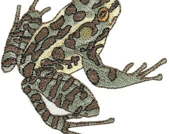 Pickerel Frog Embroidered Flour Sack Hand/Dish Towel