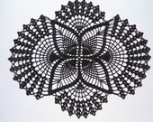 Black crochet doily , black doily , oval doilies , lace , home decor