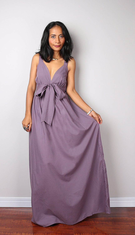 Soft Purple Dress Cocktail Bridesmaid Summer Dress Love