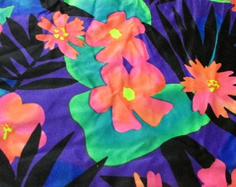 Vintage Vibrant Guilford Mills Gilbert Frank Division 4 Way  Heavy Stretchy Lycra  Knit Swimsuit/ Dress Fabric , Vintage Material