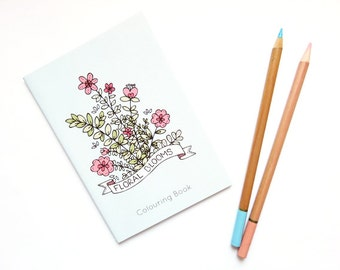 SALE Floral Blooms Colouring Book