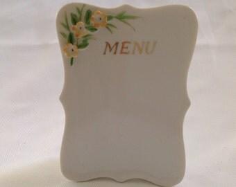 Vintage Fancy China Menu Board