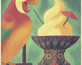 Enchanted Tiki Room Disneyland  Art