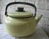 Vintage Enamel Tea Kettle Made In Poland