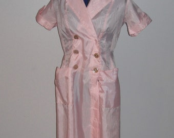 Vintage Penny's Pink Dacron Dress