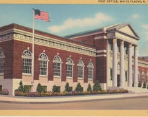 White Plains, New York, Post Office - Linen Postcard - Unused (F1)