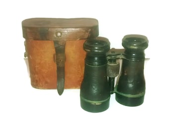 Antique French Binoculars , Deraisme of Paris , Military , Manufacture De Jumelles