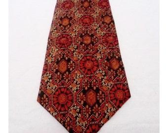 Vintage 1970s Pierre Balman Italian Silk Tie