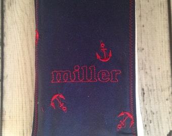 Personalized Anchor Burp Cloth