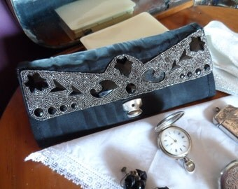 Purse 1920s evening beaded handbag