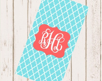 Personalized Beach Towel 30x60 - Clover