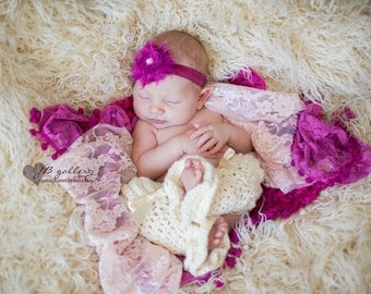 Stretch Lace Wrap, Newborn Photo Prop, Baby Girl, Newborn Lace Wrap, Baby Stretch Wrap, Photography Prop, Ready to Ship, Baby Girl Prop
