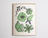 Wild Florals card in Avocado