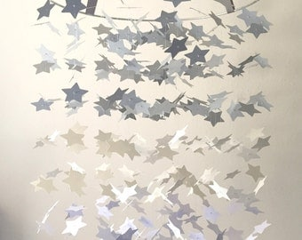 The Extra Large Neutral Star Graduated Mobile DIY KIT / / / Nursery Decor, Photo Prop, Mobile.