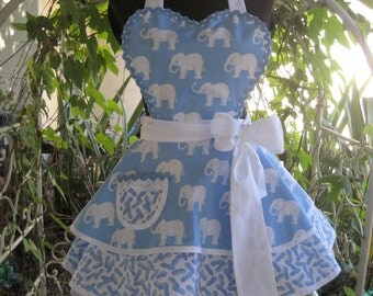 Elephant Pin Up Womens Apron Got Peanuts?