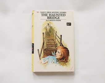 Nancy Drew Book The Haunted Bridge Vintage 1960's Mystery Book No.