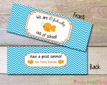 O-fish-ally Out of School - Ziplock Size Bag Topper - End of Year Gift - Student Gift - Printable - Class Gift - Customizable