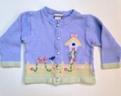 Birdhouse Embroidered Toddler Cardigan