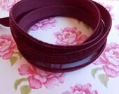 """Ribbon Velvet Burgundy 2 Yards 3/8""""width"""