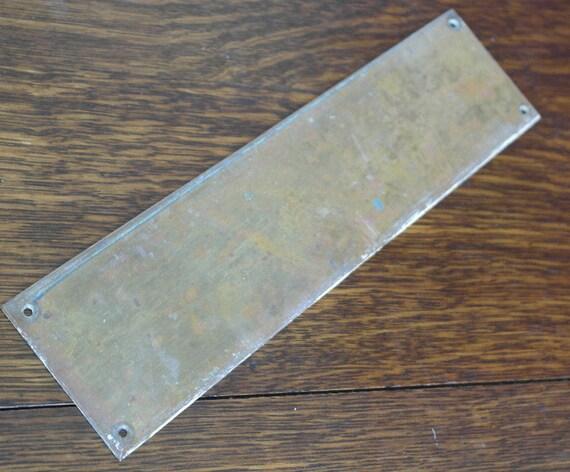 Antique brass door finger plate for Door finger plates