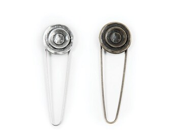 Lantern Moon Target Shawl Pin in Brassy Gold or Silver
