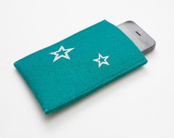 """Smartphone cover sleeve """"Silver Stars"""""""