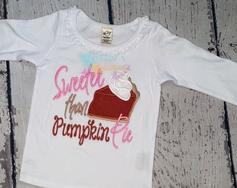 READY TO SHIP - Sweeter than Pumpki Pie - Size 24months