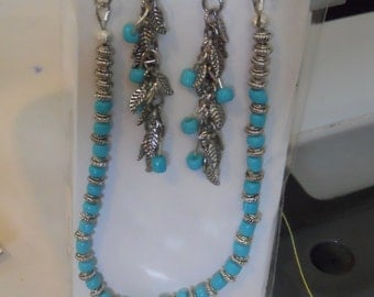 Native American style necklace and earrings