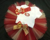 San Francisco 49ers inspired tutu outfit